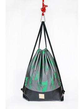 Plecak / Rośliny szary